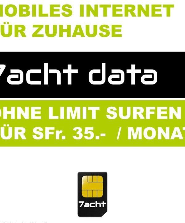 7acht Data Mobiles Internet für Zuhause
