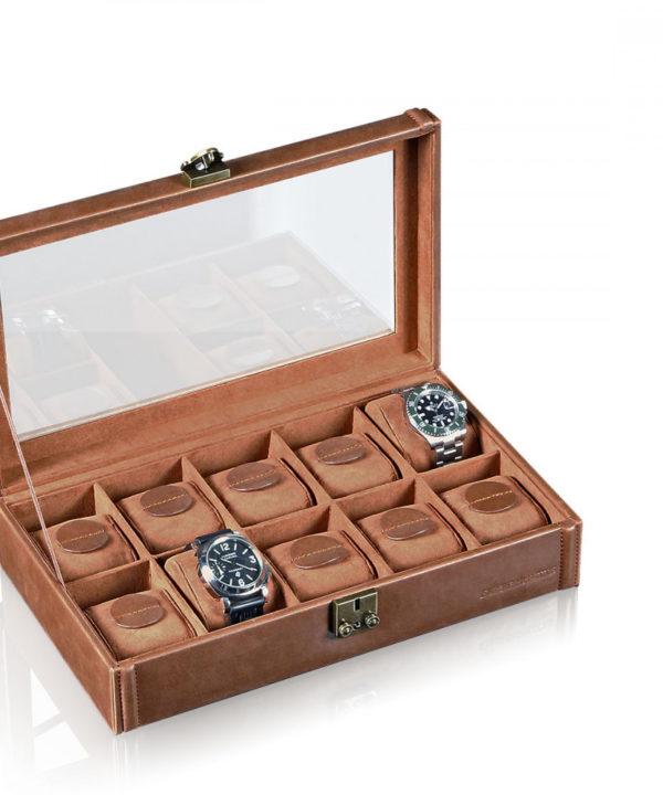 Uhrenbox Camel für 10 Armbanduhren