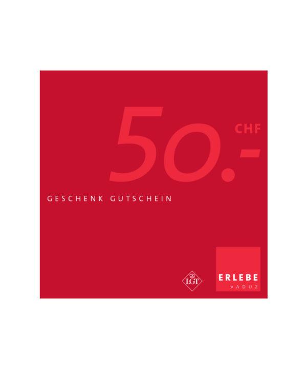 Erlebe Vaduz Gutschein CHF 50