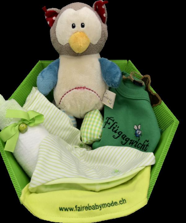 Babygeschenk zur Geburt grün